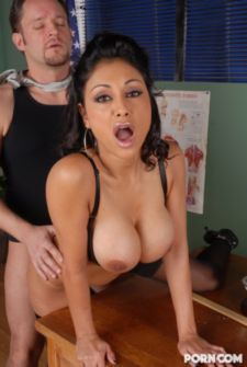 titted slut gets fucked doggy style