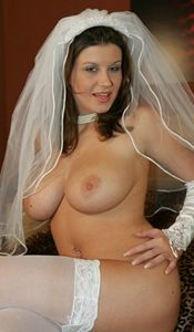 hot wife strips out of her wedding dress